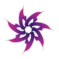 paarse bloemstervorm in spirograafstijl