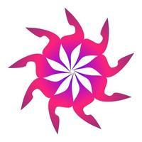 creatieve abstracte cirkelvorm met scherpe hoeken verpakt in roze kleur