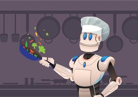 ai chef vector