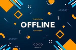 abstracte moderne gamingachtergrond voor offline stream. vector illustratie.