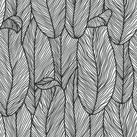 abstract botanisch naadloos patroon in zwart-wit kleuren met lijntekeningen bloemen, vrouwelijke minimalistische schone hand getrokken vector lijnen voor stof textielontwerp en inpakpapier