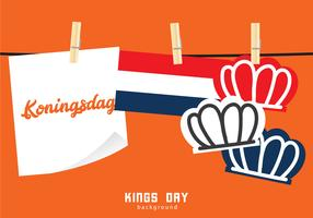 Kings Day Netherland Achtergrond vector
