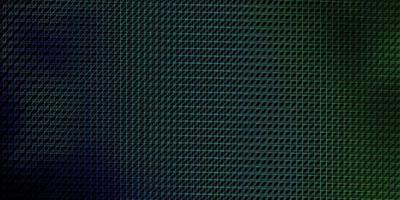 donkerblauwe, groene vectorachtergrond met lijnen. vector