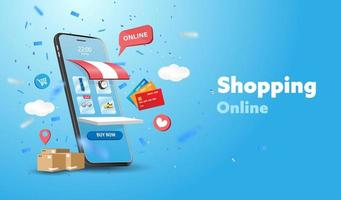 gelukkige vaderdag verkoop banner of promotie op blauwe achtergrond vector