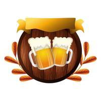 geïsoleerde bierpul vector ontwerp
