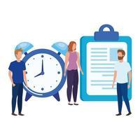 groep mensen met checklisttekens vector