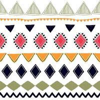 naadloze gestreept patroon. etnische en tribale motieven. vintage print, grunge textuur. Azteekse, Afrikaanse, Aziatische, Indiase en Mayastijl. Boheemse geometrische strepen hand getekend vectorillustratie.