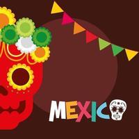Mexicaanse schedel vector ontwerp