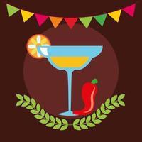 Mexicaans tequila vectorontwerp vector
