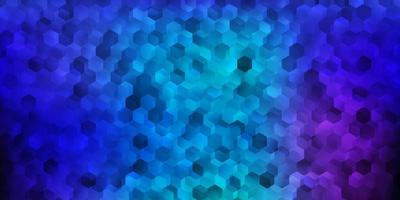 donkerroze, blauwe vectorlay-out met vormen van zeshoeken. vector