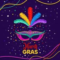 mardi gras-feest met een luxe masker
