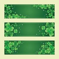 gradiënt groene klaver banner s