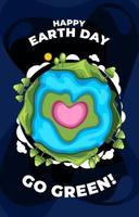 gelukkige aarde dag eenvoudige egale kleur