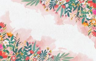 prachtige lente achtergrond sjabloon vector