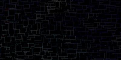 donkerroze, blauwe vector sjabloon in rechthoeken.