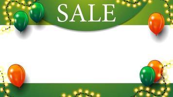 groene sjabloon voor kortingsbanner met plaats voor uw tekst vector
