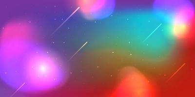 kleurrijke onscherpe achtergrond. abstracte moderne en futuristische ruimte. fantasiemelkweg met sterren en lichten. vector
