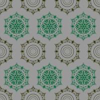 geometrische cirkel abstract naadloos patroon. zeshoek etnische motieven. Arabische oude ornamentenstijl. vector