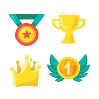 onderscheiding en winnaarssymbool in de sport, de showbusiness en het leven