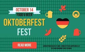 stijlvolle web oktoberfest banner vector