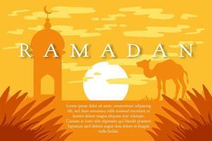 ramadan kareem groet vector