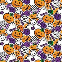 happy halloween naadloze patroon. enge en horror achtergrond vector