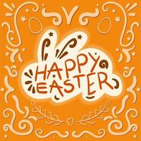 vintage vrolijk Pasen vector