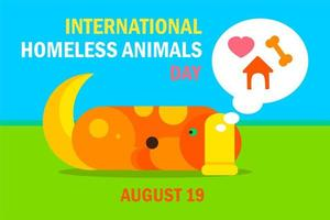 internationale dakloze dierendag vector