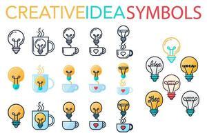 creatief succes idee logo