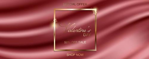 gelukkige Valentijnsdag verkoop banner vector