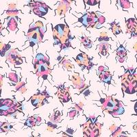 tribal bugs met naadloze patroon van decoratieve lijnen vector