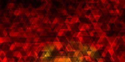 lichtoranje vectortextuur met lijnen, driehoeken. vector