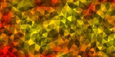 lichtoranje vectortextuur met driehoekige stijl. vector