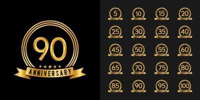 set verjaardag logo vector