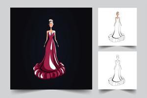 mode meisje illustraties vector