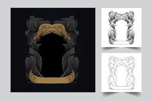 ornament frame kunstwerk illustratie vector