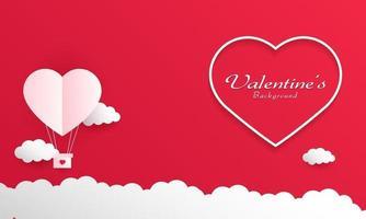 happy valentine day achtergrond vector