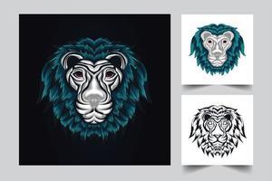 leeuw schattig kunstwerk illustratie vector