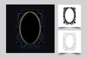 ornament frame achtergrond kunstwerk illustratie vector
