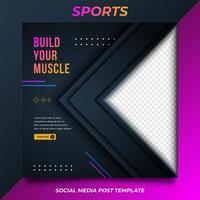 promo sport fitness voor postsjabloon voor sociale media. modern en trendy vectorontwerp. vector