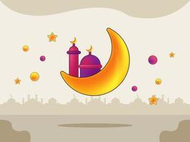ramadan kareem schattige achtergrond illustratie
