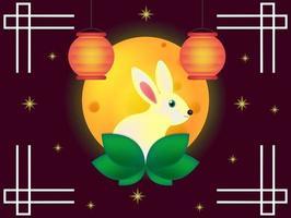 Chinees medio herfst festival vector ontwerp