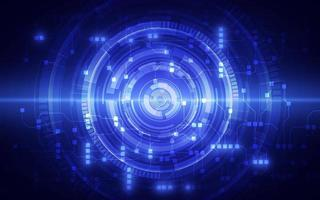 abstracte circuitnetwerken blockchain concept achtergrond vector