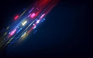 abstracte digitale online communicatietechnologie achtergrond, circuitlijnen computer, internetsysteem cyberspace
