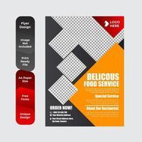 ontbijtflyer voor restauranteten vector