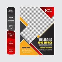 heerlijk eten sjabloonontwerp voor restaurants vector
