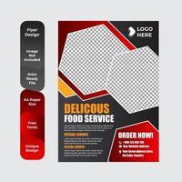 restaurantmenu, brochure, flyer ontwerpsjabloon