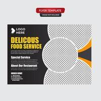 fastfood hamburger sociale mediasjabloon