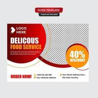 elegante restaurant folder sjabloon vector