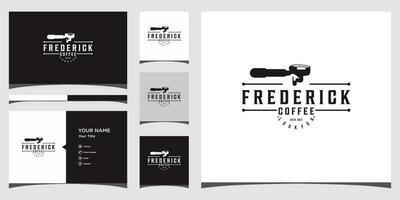 cofffe maker logo sjablonen en visitekaartje ontwerp premium vector